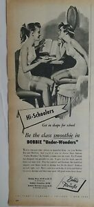 1952 women's Bobbie by Formfit under wonders girdle bra vintage fashion ad