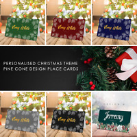 Personalised Christmas Table Name Place Cards for Parties | Xmas Place Cards