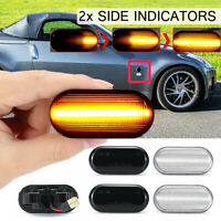 2X Dynamic LED Side Repeater Indicator Light For Nissan Navara 350Z   ~ DY