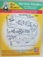 Aunt Martha's Hot Iron On Transfers - Flowers for Linens #3805