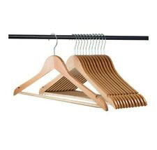 30pcs Wooden Suit Clothes Wood Hangers Coat Dress Pants Hangers W/ Cut Notches