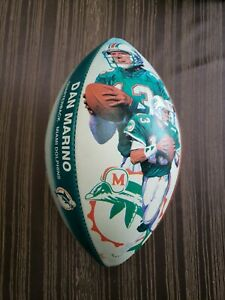 Dan Marino Signed Sportacular Art Official Wilson Photo Stat Football Dolphins