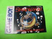 SHANGHAI NINTENDO GAME BOY INSTRUCTION BOOKLET MANUAL ONLY