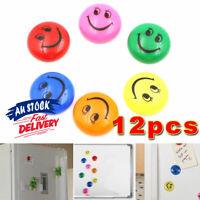 12Pcs Notice Board Memo Set Fridge Magnets Refrigerator Strong Smiley Face Funny