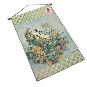 Nature's Harmony Chickadee Chickadees Tapestry Wall Hanging ~ Artist, Lena Liu