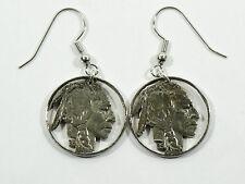 Vintage Indian Head Nickel Cut Coin Artistic Earring set