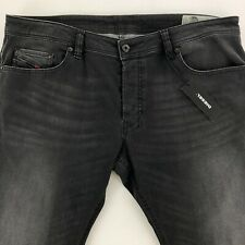 Diesel Safado-R Regular Slim Straight Jeans Mens 38x32 Button Fly Black R2T2R