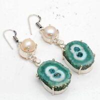 Solar Quartz,Biwa Pearl Ethnic Jewelry Handmade Earring ME-2194