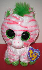 """Ty Beanie Boos ~ SAPPHIRE the 6"""" Zebra ~ RARE Exclusive ~ MINT with MINT TAGS"""
