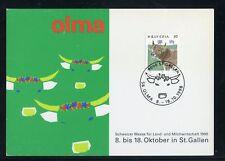 SCHWEIZ Nr.1461 SONDERKARTE OLMA MILCH / KÜHE 8.-18.10.1998 !!! (132447)