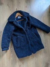Girls Zara Navy Teddy Coat Age 9-10