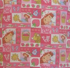 Nurse Scrub Berry Cool Medium Pink Pony Cats Strawberries Sun Hats V-Neck