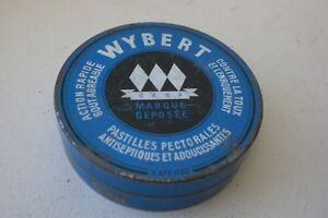 ancienne boîte PASTILLES WYBERT, étab. GABA Ht Rhin. médicaments, pharmacie