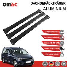 Dachträger Gepäckträger für VW Caddy 2003-2020 Alu Schwarz 3 tlg mit TÜV ABE