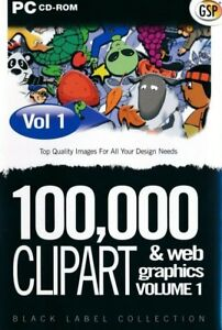 100,000 Clipart & Web Graphics Collection v1 PC CD-ROM (Disc in Sleeve)