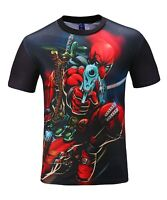 Deadpool Gun T-Shirt (all over 3d printed superhero deadpool t shirt)
