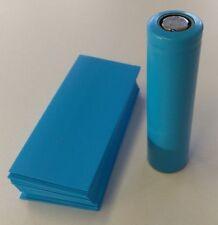 125 pcs Pre-Cut 18650 Lithium Battery SKY BLUE PVC Heat Shrink Wrap Vape