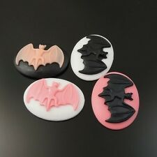 8X Mixed Tone Resin Oval Bat Cameo Cabochon Fit Tray Setting Charms 40*30*8mm