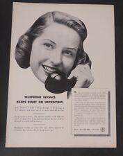Original Print Ad 1949 BELL TELEPHONE SYSTEM   Vintage Art
