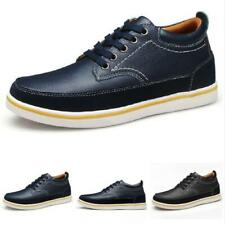 Mens Driving Flats Outdoor Walking Low Top Faux Leather Sneakers Boards Shoes L