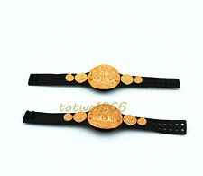2X WWE Wrestling Belt World Tag Team Championship Title Figures Accessory KidToy
