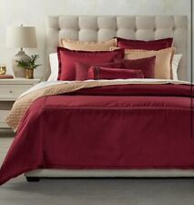 Hotel Collection king Duvet Cover Luxe Border Red