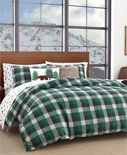 Eddie Bauer Twin Comforter Set Birch Cove Plaid Dark Pine Green T96201