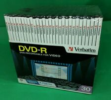 Verbatim DVD-R 30 Pack Case 4.7GB - 120 Min Recordable for Video w/Cases
