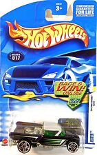 Hot Wheels 017 Jester, 2002 First Editions 5/42 Variant Race & Win Car Card Mint