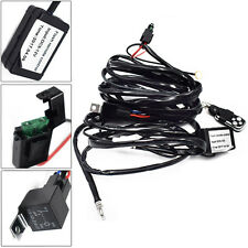 12V Car Remote Control Flash Strobe 2Lead LED Light Wiring Harness Kit Helpful