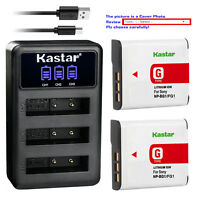 Kastar Battery Triple Charger for Sony NP-BG1 NPBG1 & Cyber-shot DSC-W100 Camera