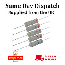 620 Ohm 1 Watt (W) Metal Oxide Film Fixed Resistor (620R) ± 5% RoHS (10 Pieces)