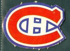 Montreal Canadiens 1972-73 OPC 72 O-Pee-Chee Team Logo Hockey Insert Card CUTOUT