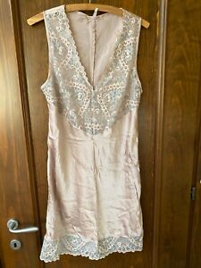 Intimissimi pink SILK Nightdress sleepwear nightgown size L