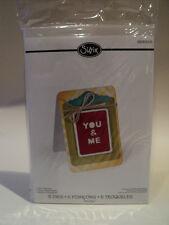 SIZZIX THINLITS RACHAEL BRIGHT CARD CLIPBOARD 5 DIES BNIP *LOOK*