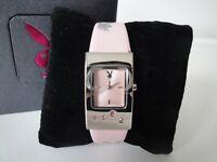 New Playboy Watches Girls Womens Quartz Battery Pink Strap Classic Ladies Watch