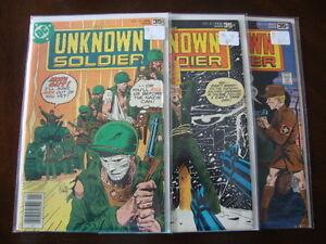 Unknown Soldier #211 G #212 VG #213 G