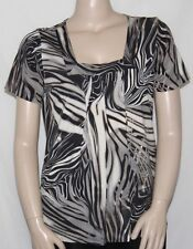 NWT Kauaiana Square Neck Short Sleeve Printed Blouse MULTI/1X