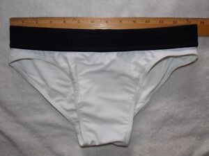 Mens    N2N  swim brief   White       [#840]