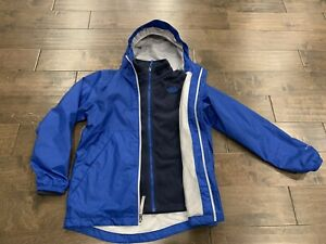 The North Face Boys Youth Blue Dry Vent Shell Hooded & Fleece Jacket Large 14/16