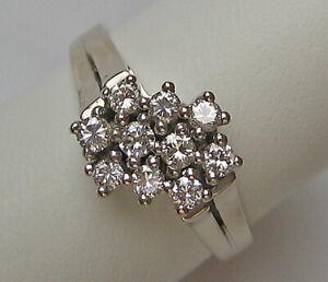 WoW Lupenrein Brillant Ring in aus 585 Gold mit Brillanten Diamant Diamond  7560