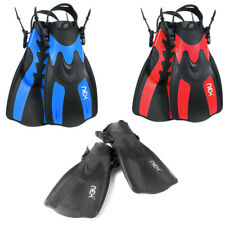 Swim Fins Travel Size Adjustable for Snorkeling Diving Adult Swimming Flippers