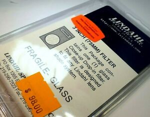 """Close-up +2 Macro lens Filter drop in square 3X3"""" for Lindahl specialties"""