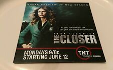 Rare TNT Sneak Preview DVD THE CLOSER Kyra Sedgwick SAVED Drama TELEVISION TV