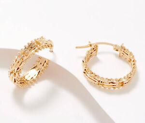Imperial Gold Wheat Hoop Earrings 14K Gold J369068