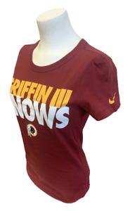 Nike Women's Washington Redskins Griffin III Knows Maroon Slim Fit Shirt XS