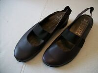 Women's Mephisto Air-Jet Dark Brown Leather Slingback Flats US Size 7