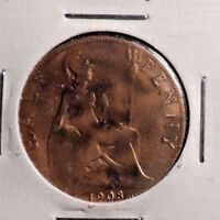 CIRCULATED 1908 1/2 PENNY UK COIN (101016)
