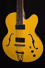 Dean Stylist Cabbie Semi Hollow 4 String Electric Bass Guitar - Free Shipping!