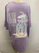 "New Lauren James Women's ""Beach Crusin'""  Short Sleeve T-Shirt, Purple, Large"